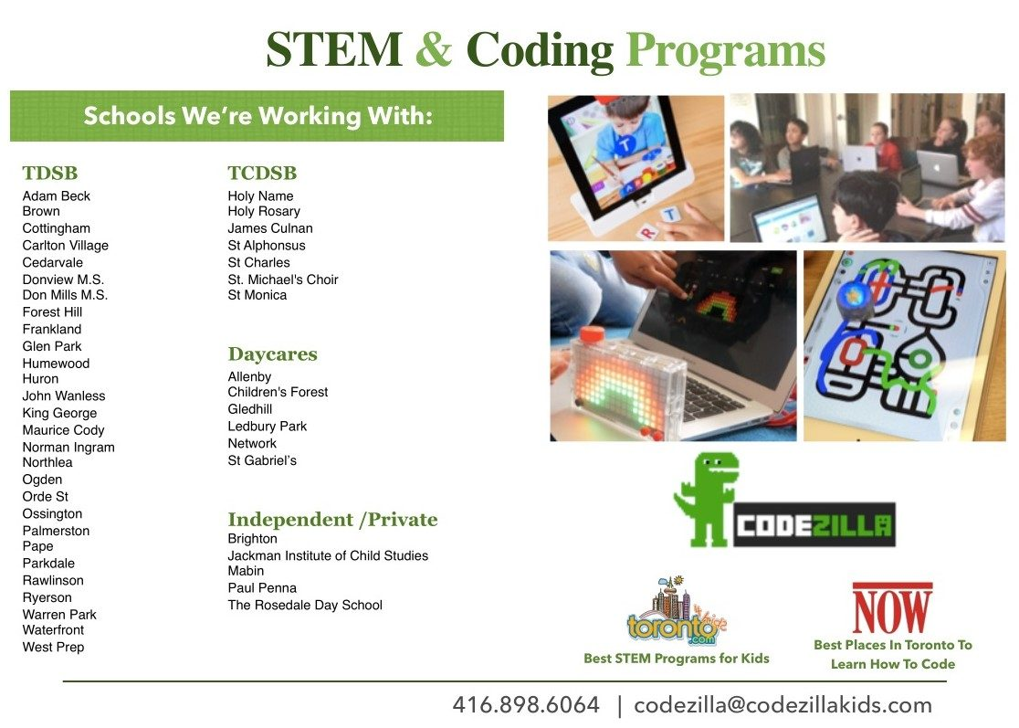 Schools we've provided STEM & coding programs to